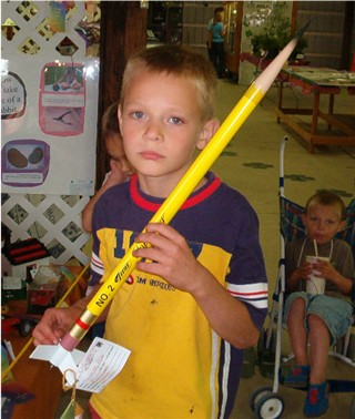 Chrish & his pencil Rocket